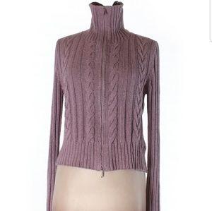 Cardigan Lite purple zip up sweater